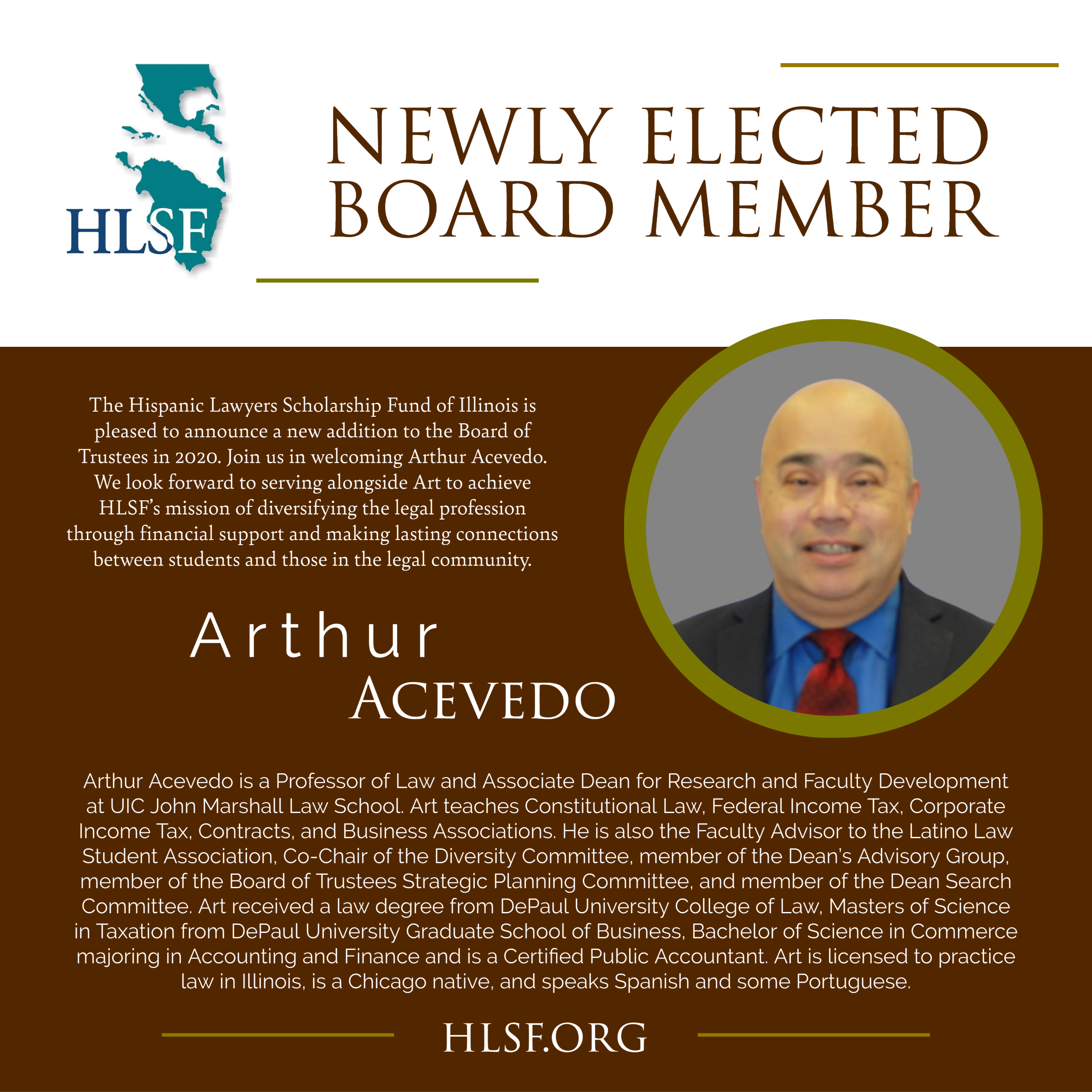 HLSF Welcomes Arthur Acevedo to the Board