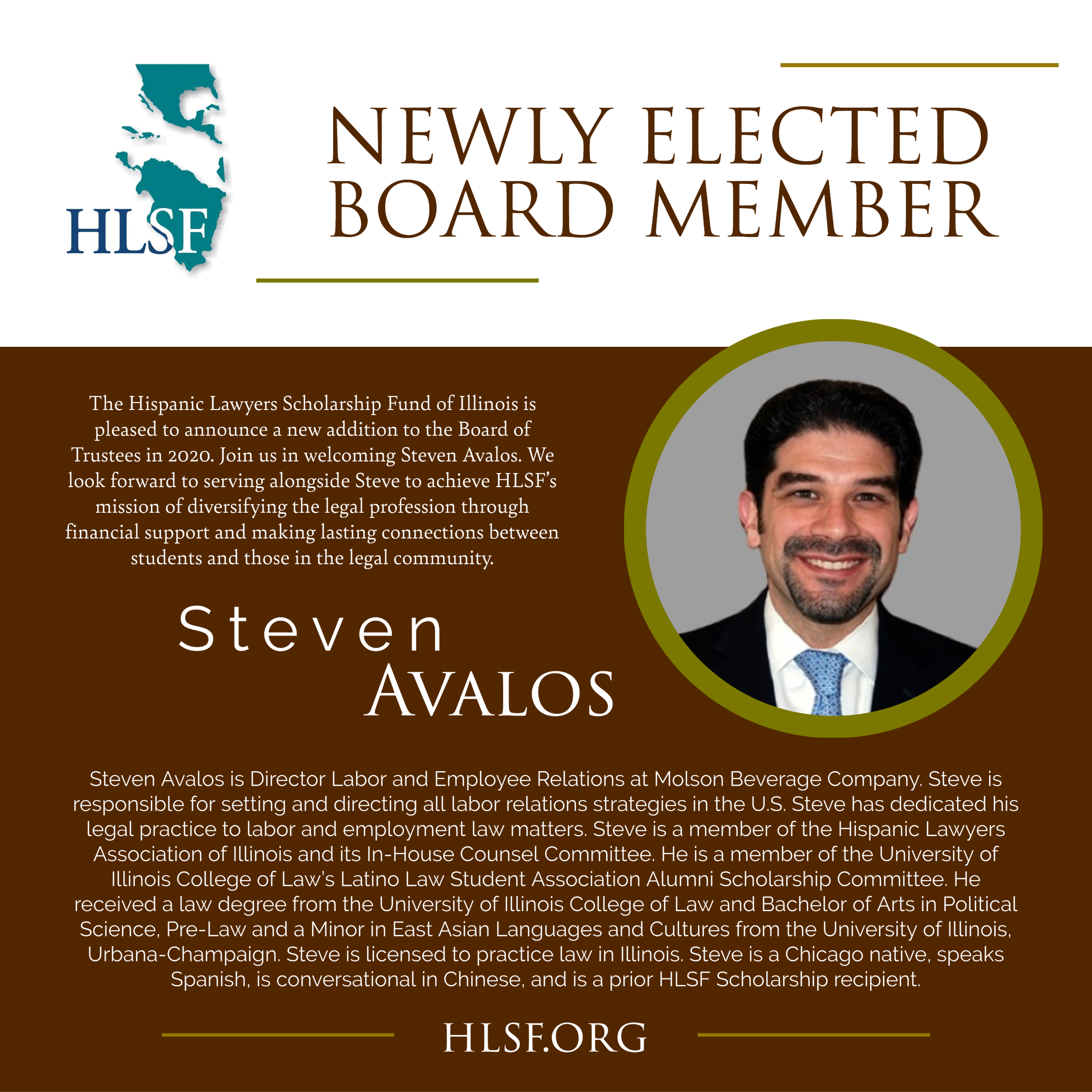 HLSF Welcomes Steven Avalos to the Board